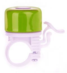 Martes Dzwonek rowerowy Leptus Apple Green / White