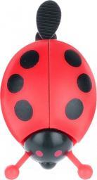 Martes Dzwonek rowerowy Ladybird czarno-czerwony