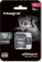Karta MicroSD Integral MicroSDXC 64GB (INMSDX64G10-90U1)