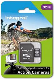 Karta MicroSD Integral micro SDHC for Action Camera 32GB (INMSDH32G10-ACTION)