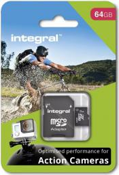 Karta Integral MicroSDXC for Action Camera 64GB (INMSDX64G10-ACTION)
