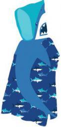 AQUAWAVE Ręcznik Shark Poncho Print niebieski 60x120cm