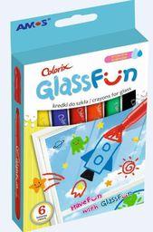 Amos Kredki do szkła 6 kolorów Glass Fun