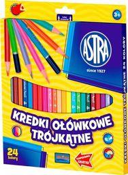 Astra Kredki ołówkowe trójkątne 24 kolory (058993)