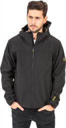 Hi-tec Męski Softshell Larry III Black/Bright Yellow r. L