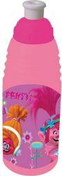 Beniamin Bidon plastikowy Trolle 450ml różowy