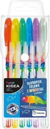 Derform Długopis żelowy z brokatem 6 kolorów C Kidea DZB6CKA - WIKR-1007713