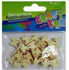 Craft with Fun Ozdoba dekoracyjna - Drewniane guziki Żyrafa
