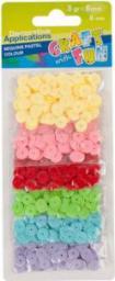 Euro Trade Cekiny pastelowe guzik 6 kolorów 290114