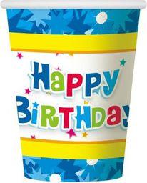 GoDan kubeczki papierowe Happy Birthday niebieskie (17078)