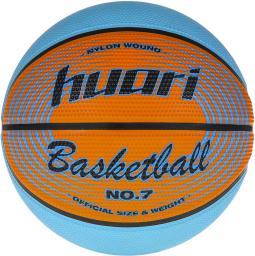 Huari Piłka do koszykówki LEBRON RED ORANGE LIGHT BLUE
