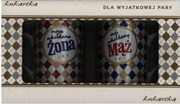 KUKARTKA Komplet kubków 250 ml Mąż ,Zona (WIKR-1020703)