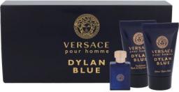 VERSACE Pour Homme Dylan Blue  Zestaw dla mężczyzn EDT 5 ml + Żel pod prysznic 25 ml + Balsam po goleniu 25 ml