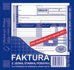 Michalczyk & Prokop Faktura 2/3 A5 z jedną stawką podatku 131-4E (WIKR-905460)