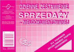 Michalczyk & Prokop Dzienne zestawienie sprzedaży nieudokumentowanej Typ R5 (WIKR-009239)