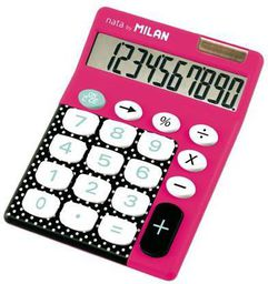 Kalkulator Milan Kalkulator 10-pozycyjny Dots & Buttons różowy - WIKR-954286