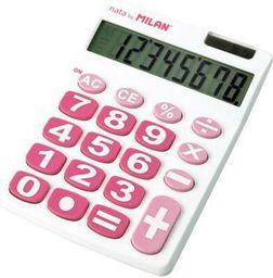 Kalkulator Milan Kalkulator 8 pozycji duże klawisze biało-różowy - WIKR-928291
