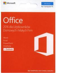 Microsoft Office 2016 dla Użytkowników Domowych i Małych Firm (T5D-02855)