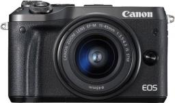 Aparat Canon EOS M6 + obiektyw EF-M 15-45mm f/3.5-6.3 IS STM (1724C012AA)