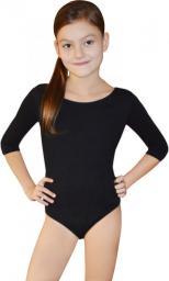 Gwinner Body dziewczęce BODYSUIT GIRLS ¾ SLEEVE LEOTARD Czarne (134)