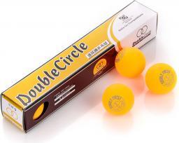 Meteor Piłeczki do tenisa stołowego DOUBLE CIRCLE 6 szt żółte (3040)