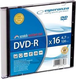 Esperanza DVD+R/200/Slim Case 4.7GB 16x