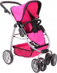 MalPlay Wózek głęboki / spacerówka- combi, różowy