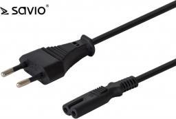 Kabel zasilający Savio płaska ósemka,  3m (SAVKABELCL-105)
