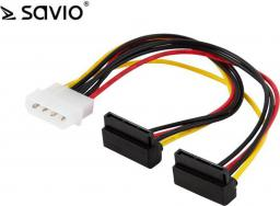 Savio Kabel zasilający adapter Molex - 2x SATA (AK-19)