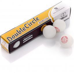 Meteor Piłeczki do tenisa stołowego DOUBLE CIRCLE 6 szt białe (3039)