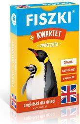Angielski. Fiszki + Gra Kwartet - zwierzęta