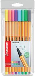 Stabilo Cienkopis point 8 kolorów pastelowy