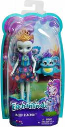 Mattel Enchantimals  Lalka + Zwierzątko. Ratter Peacock (DVH87/DYC76)