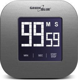 Minutnik GreenBlue cyfrowy Magnes z dotykowym ekranem czarny (GB524)