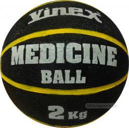 Vinex Piłka lekarska rehabilitacyjna 2kg Czarno-żółta (VMB-L002 - 8475)