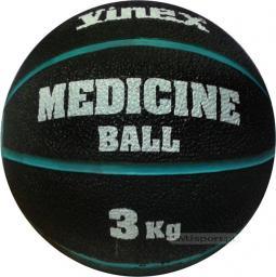 Vinex Piłka lekarska rehabilitacyjna 3kg Czarno-niebieska (VMB-L003 - 8476)