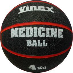 Vinex Piłka lekarska rehabilitacyjna 4kg Czarno-czerwona (VMB-L004 - 8477)