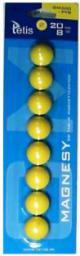 Tetis Magnesy do tablic żółte 20mm GM300-PY8