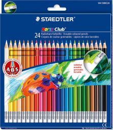 Staedtler Kredki z gumką 24 kolory Noris Club