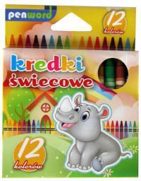 Penword Kredki świecowe 12 kolorów 8912