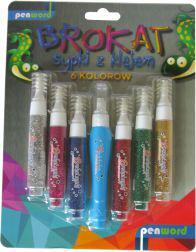 Penword Brokat sypki z klejem 6 kolorów BK-2