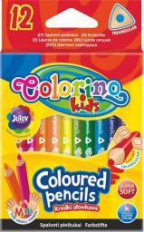 Patio Kredki ołówkowe mini trójkątne 12 kolorów