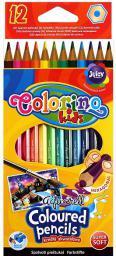 Colorino Kredki akwarelowe 12 kolorów z pędzelkiem