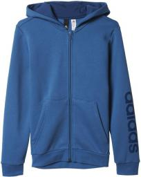 najlepsze oferty na na stopach o jakość Adidas Bluza Essentials Linear Full Zip Hoodie Junior Niebieska, Rozmiar  110 (BP8746*110) ID produktu: 1363123