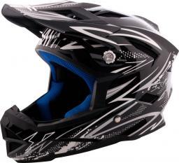 W-TEC Kask Downhill AP-42 Kolor czarno-srebrny, Rozmiar XL (61-62)