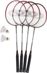 SMJ sport Zestaw do badmintona 4 rakietki + 2 lotki + siatka BR-023 (7115)