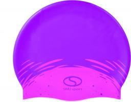 SMJ sport Czepek basenowy Masaż PC01 fioletowo-rózowy