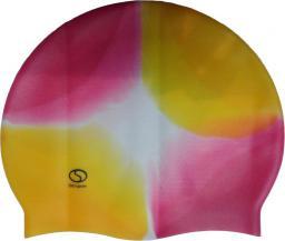 SMJ sport Czepek basenowy Masaż 161 żółto-różowy  (8399)
