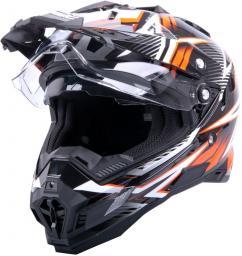 W-TEC Kask motocyklowy W-TEC AP-885 graphic Kolor czarny/pomarańczowy, Rozmiar XXL (63-64) - 9921-XXL-2