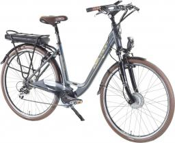 Devron Miejski rower elektryczny 28126 Kolor Srebrny, Rozmiar ramy 21